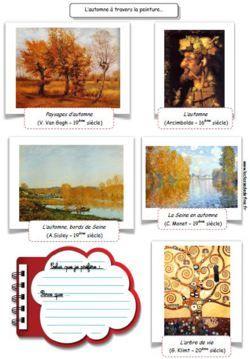 Fiche de peintures célèbres sur l'automne