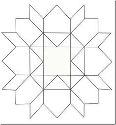 To Play With Layout Of Block Squares And Triangles Coloring Page