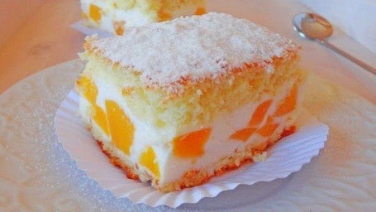 Túrókrémes habos barackos sütemény! Nehéz abbahagyni, függőséget okoz, annyira finom! - MindenegybenBlog