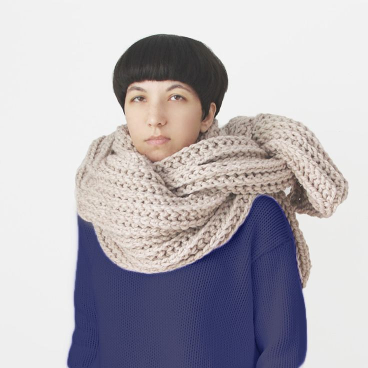 There's nothing quite like wrapping yourself in seven feet of soft woolly scarf.  Hand knitted by American knit wunderknd Yokoo Gibraan using a stitch she invented herself, we only have two of these deliciously enormous scarves left.  #sorrythanksiloveyouwinter #yokoo #supascarf http://sorrythanksiloveyou.com/products/view/soopa-scarf-yokoo-gibraan