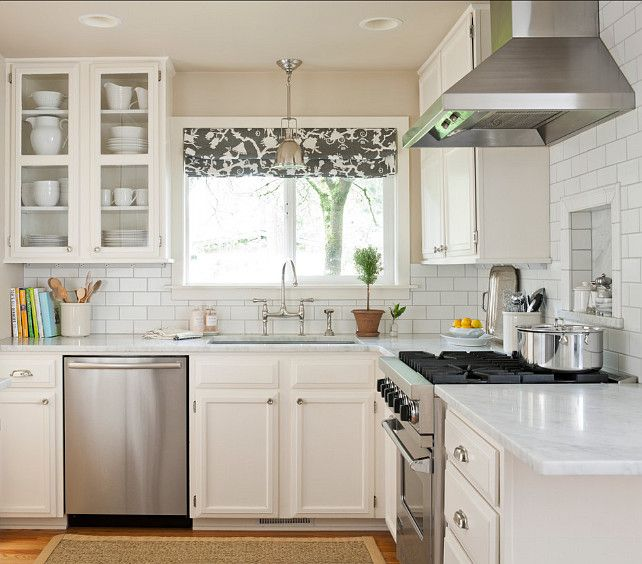Planning a Small Kitchen, via home bunch. Blog entry about small kitchen ideas and inspirations. Good reference for reno...