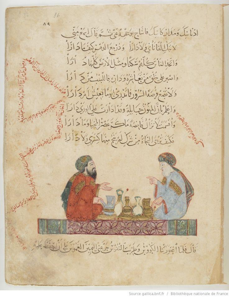 folio 86r, maqama 28. Abu Zayd and al-Harith