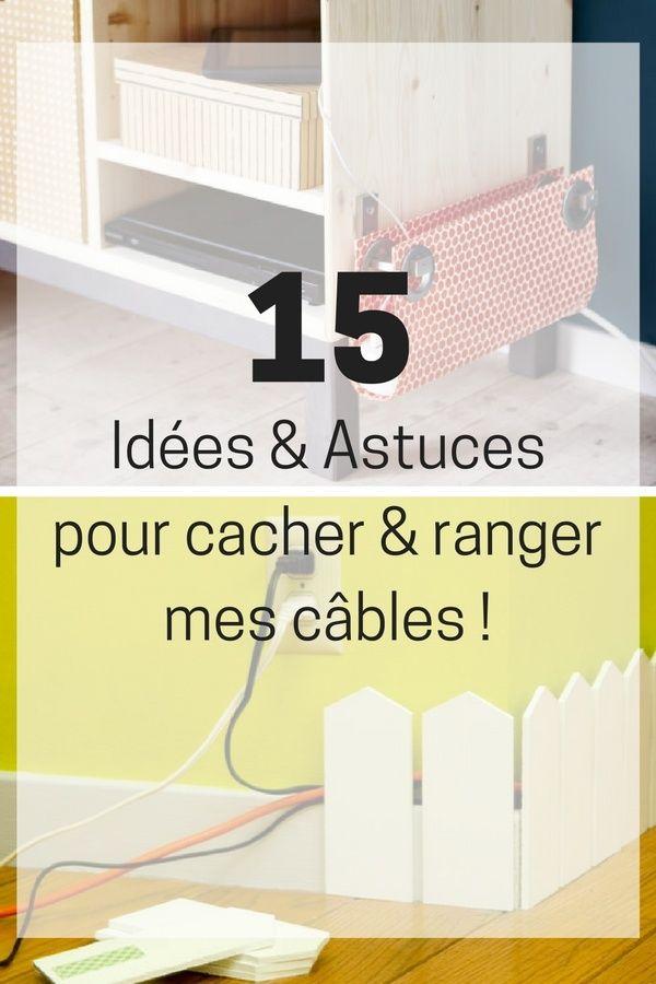 15 Idées Pour Cacher et Ranger Vos Câbles, Fils et Prises Électriques !  http://www.homelisty.com/cacher-ranger-cables-fils-prises-electriques/