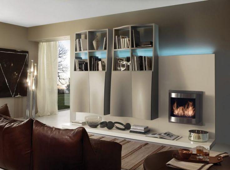 Modern nappali bútor, különleges fronttal