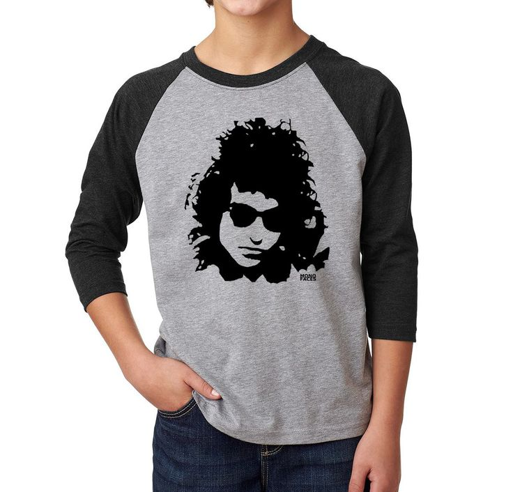 Bob Dylan Youth Raglan T-shirt, Tri Blend Teenager Baseball Tee, Unisex Teenage Gifts, Personalised Son Birthday Gift, Custom Daughter Gift by MONOFACESoCHILDREN on Etsy