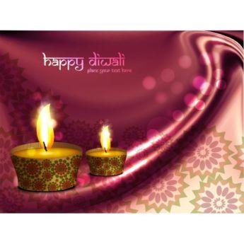 Vector glowing diya lamp on floral art pattern curtain background happy Diwali…