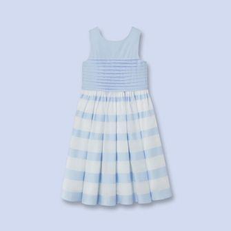 Robe sans manches BLANC/BLEU Fille - Vêtement Enfant - Jacadi Paris