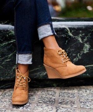 Target $34.99 -- women's merona kadence wedge ankle boot chestnut