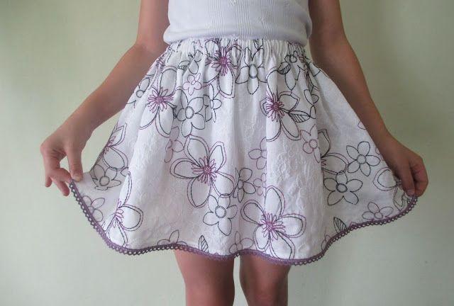Anet moda: Tym razem letnia spódniczka dla dziewczynki ,rozm....