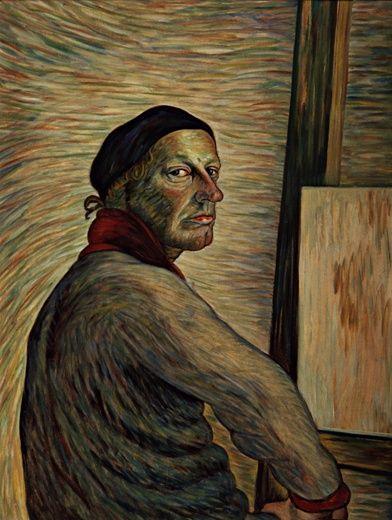 VILHO LAMPI (1898-1936)Omakuva (Self-Portrait, 1933)