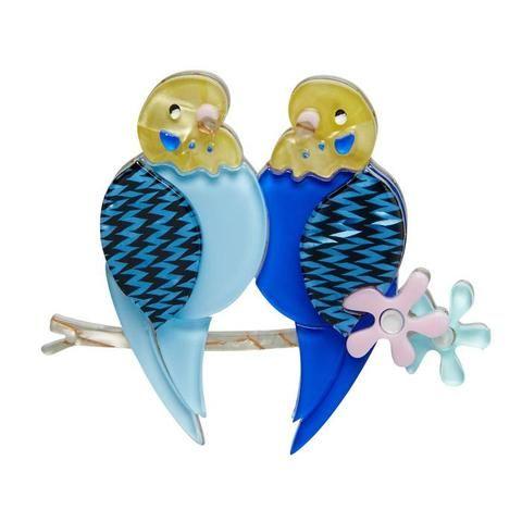 Erstwilder Best Budgies Bird Brooch