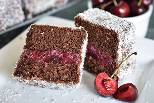 Cherry Ripe Lamingtons - Weber