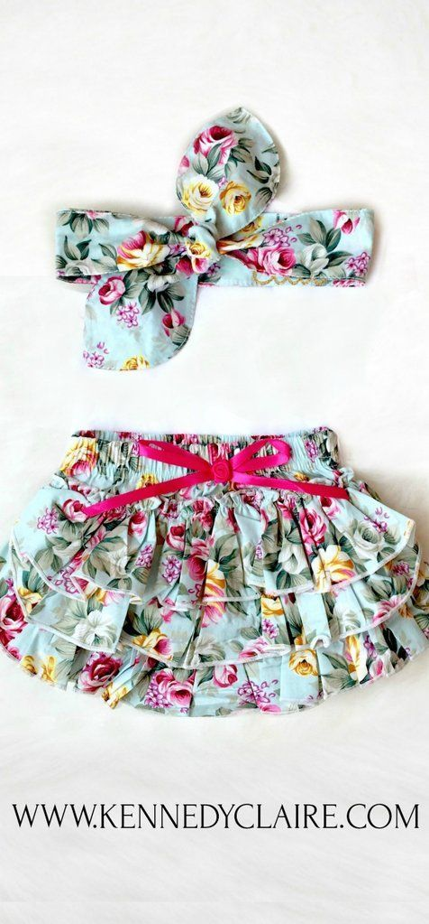 6e56edf5b Blue Floral Bloomer Set