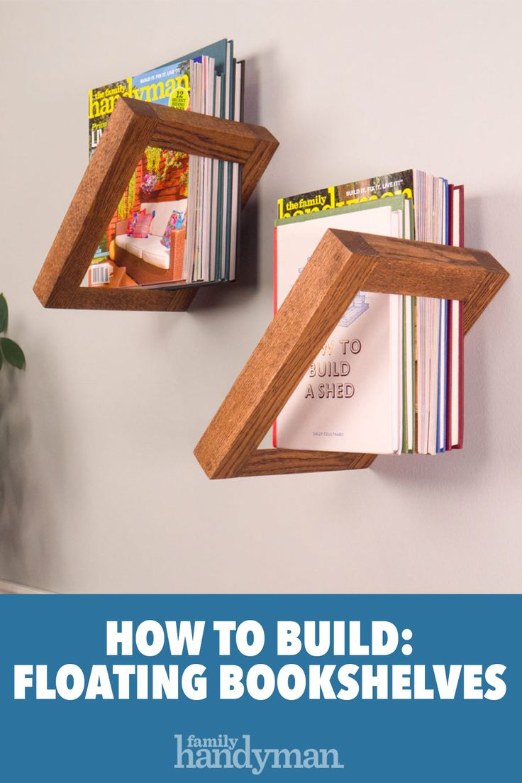 How to Build DIY Floating Bookshelves