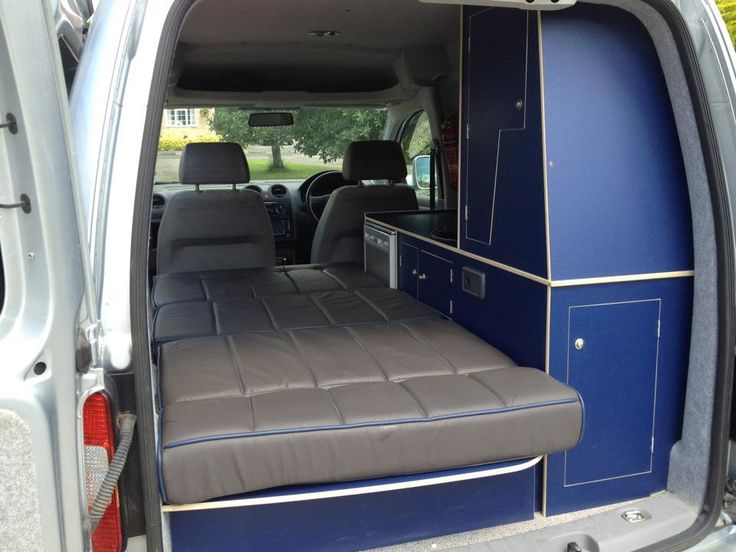 interior of a converted caddy vw caddy camper. Black Bedroom Furniture Sets. Home Design Ideas