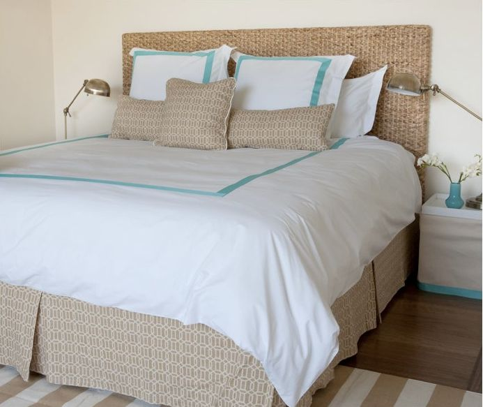 Beach Bungalow Inspired Bedroom Seagrass Headboard White