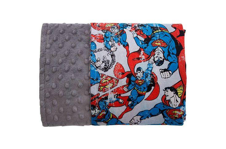 Man of Steel Reversible Minky Blanket - Levi & Evelyn