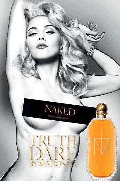 Truth or Dare Naked by Madonna, print ad