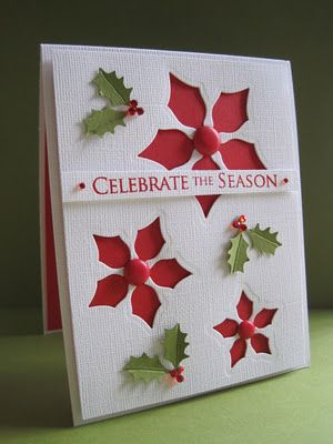 Spellbinders Poinsettia die. I have these will have to try this