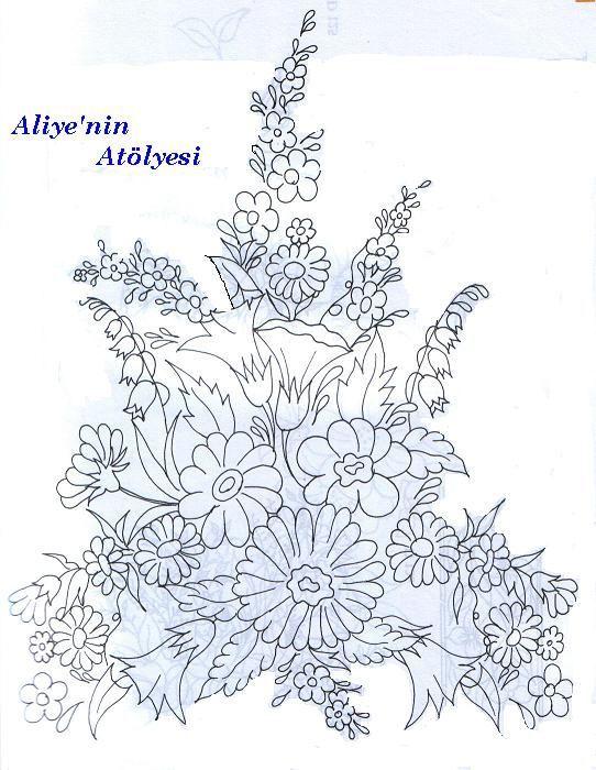 Silk ribbon embroidery pattern   Crafts   Pinterest   Bordado, Cinta ...
