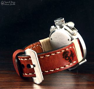 Topouzelli Straps : Leather watch strap T 826