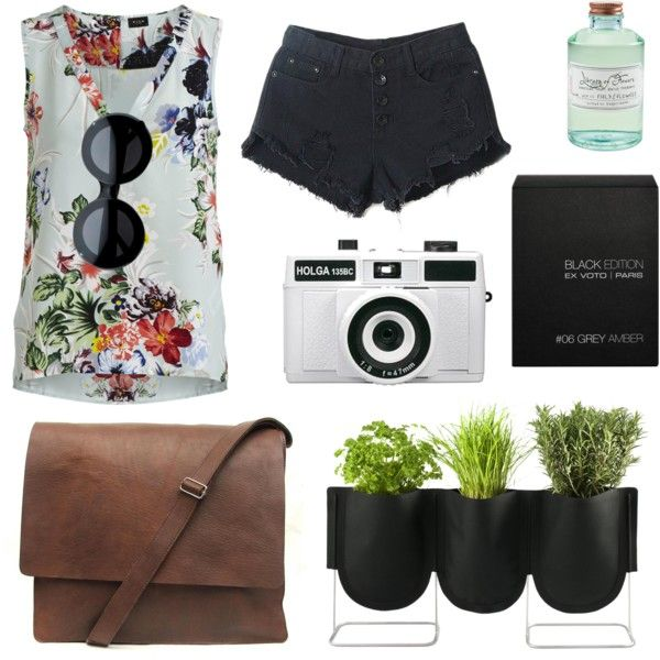 #17 by Juliana Lima by julianalima-i on Polyvore featuring polyvore, fashion, style, VILA, Wildfox, Library of Flowers, Ex Voto Paris, Authentics and Holga