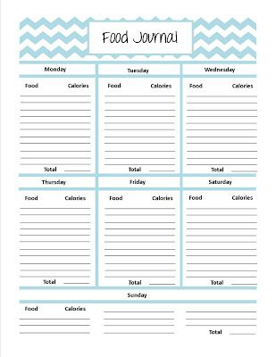 Cute printable food journal pages | Fitness | Diet journal ...