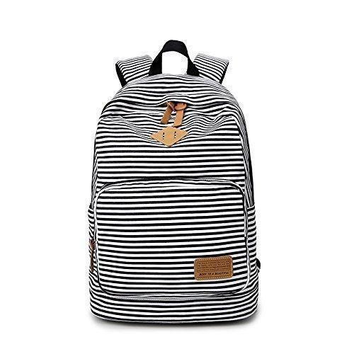 Oferta: 19.99€. Comprar Ofertas de Moda lindo rayas Casual lona portátil bolso escolar mochila ligera mochilas para niñas adolescentes barato. ¡Mira las ofertas!