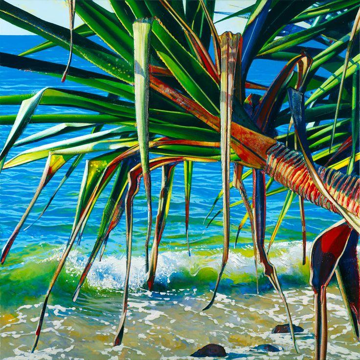 """Pandanus Splash"" artwork by Australian artist, Susan Schmidt, now available as fine art reproductions - http://www.artreproductions.com.au/gallery.php?artid=1392"