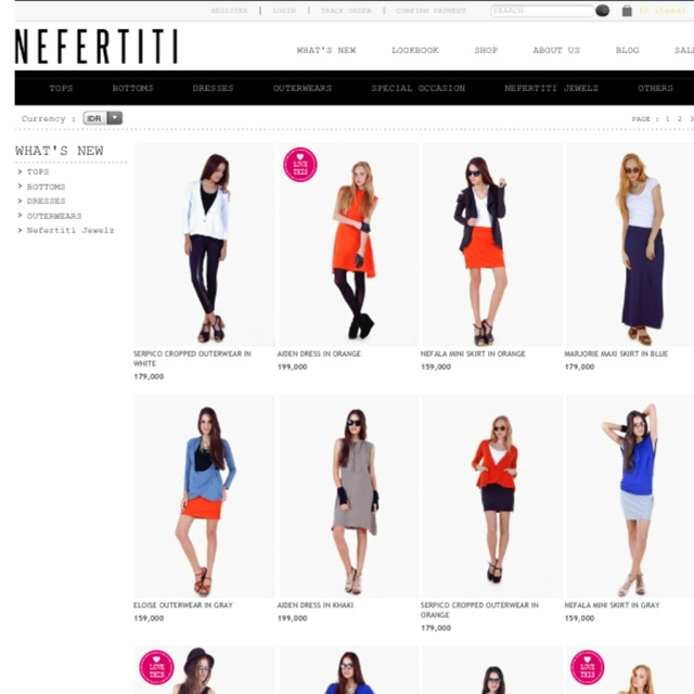 Our new arrivals page at shopnefertiti.com is lookin pintastic @pinterest