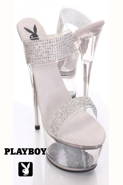 Clear Rhinestone Decor Vamp Platform Heels. 83 best Playboy images on Pinterest