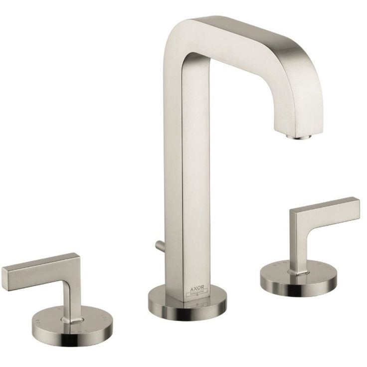Hansgrohe Axor Citterio Widespread Brushed Nickel Bathroom Faucet With  Lever Handle (Brushed Nickel)
