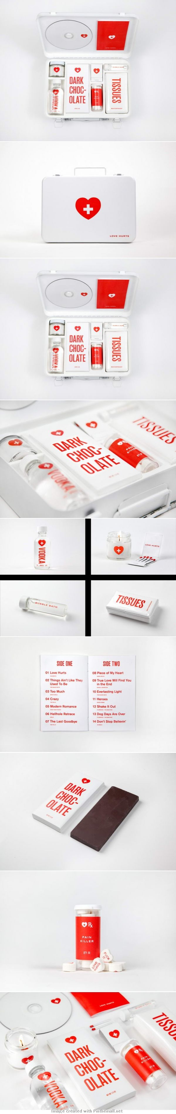 Love Hurts Kit • A First Aid Kit For Desperate Lovers – Love Hurts and the team loves it  #2013 #toppin PD