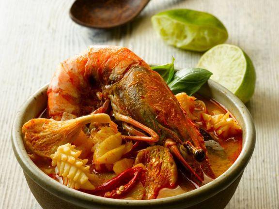 Meeresfrüchtesuppe ist ein Rezept mit frischen Zutaten aus der Kategorie Südfrucht. Probieren Sie dieses und weitere Rezepte von EAT SMARTER!