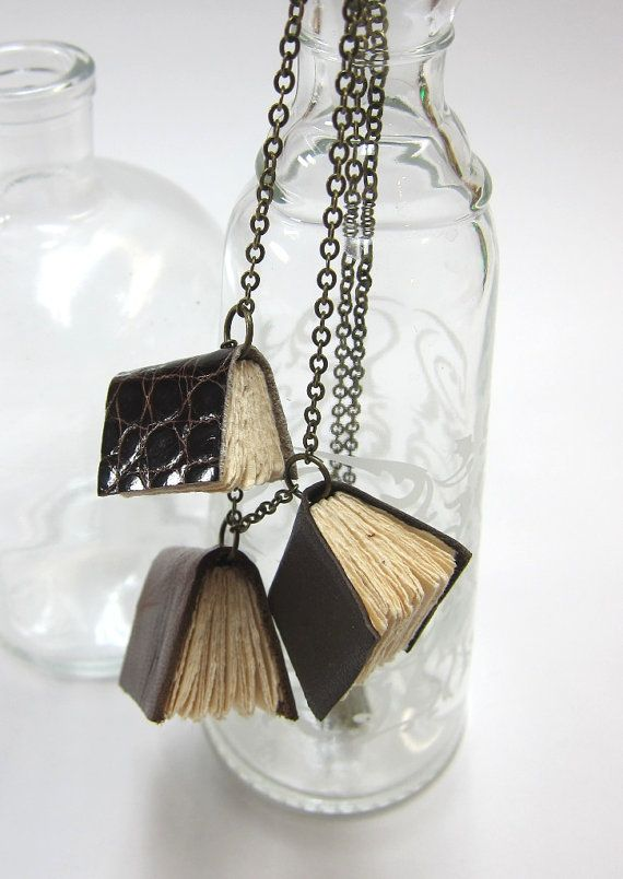 Book necklaces, possibly going to make one for myself.