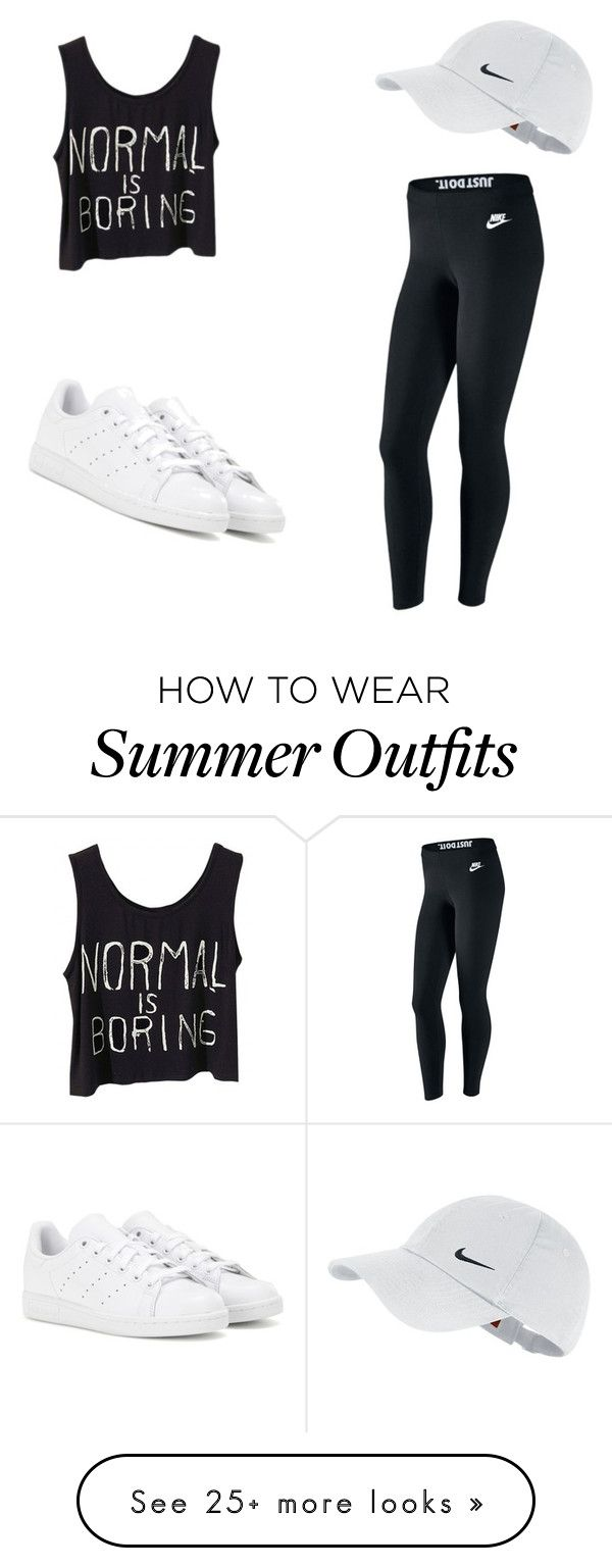 My First Polyvore Outfit by andrea-ogando on Polyvore featuring NIKE and adidas