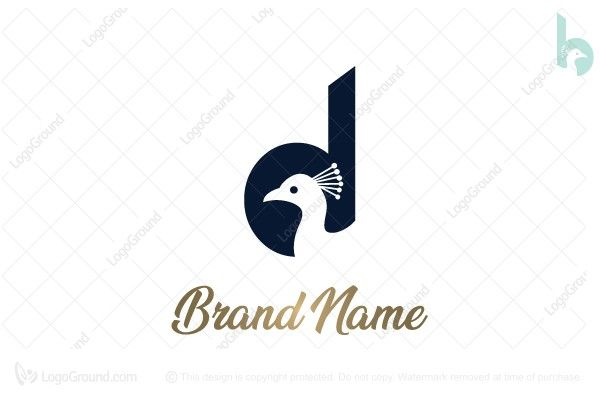 Exclusive Logo 231393 Peacock D Or B Letter Logo In 2020 B