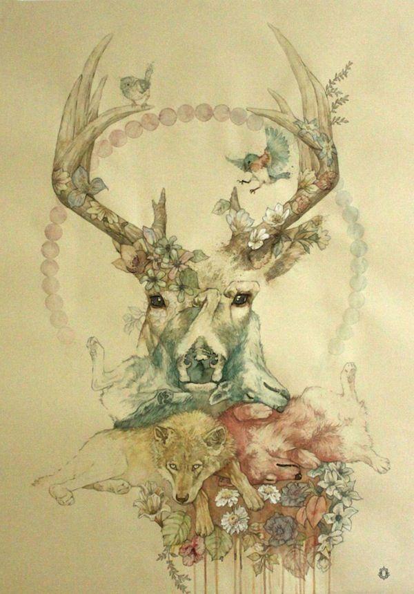 Deer + Wolf / Oriol Angrill Jordà