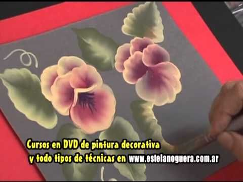 Estela Noguera pinta rosas - YouTube