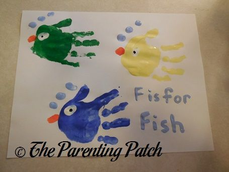 F Is for Fish Handprint Craft | Parenting Patch
