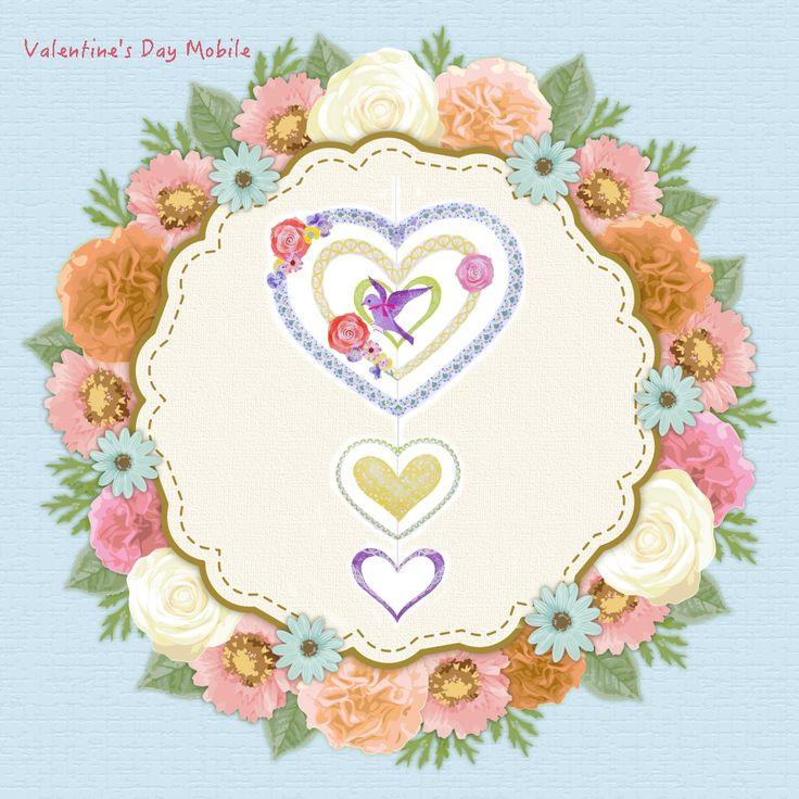 簡単無料ダウンロードでハートのモビール作れちゃいます(•ө•)♡🎶➡️https://goo.gl/zNvd4g  バレンタインまで気分を盛り上げるインテリア💕(o´艸`o)•*¨*•.¸¸♪   #モビール #インテリア #ハート #バラ #カワイイ #バレンタインデー #幸せの青い鳥 #プレゼント