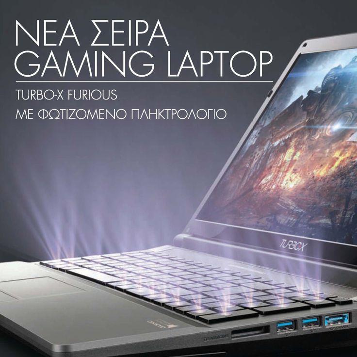 Νέα Turbo-X gaming laptops. Για να παίζεις μέρα-νύχτα!