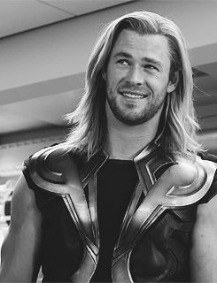 """""""[Chris Hemsworth] is a big boy, and it's all real. There's no CGI. He eats that much chicken, he lifts all that weight, he kick-boxes, he's a Muay Thai champion. I mean, to the point where Chris Evans, Jeremy Renner and Robert Downey Jr were reduced to just standing around and touching him."""" - Tom Hiddleston quote"""