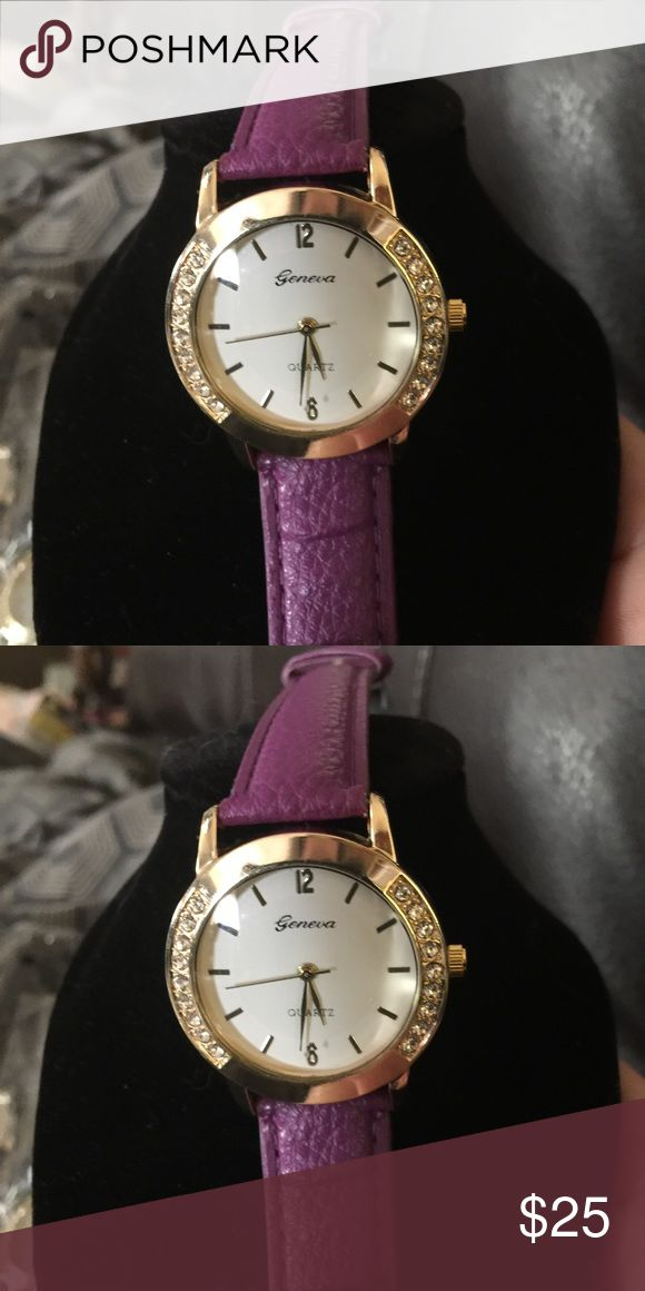 Very nice women's watch This one has a purple band very nice woman's watch have other color bands also available Accessories Watches