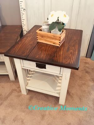 Mission Style End Table With Fusion S Plaster Cuccino Stain Home Projects Tables Furniture