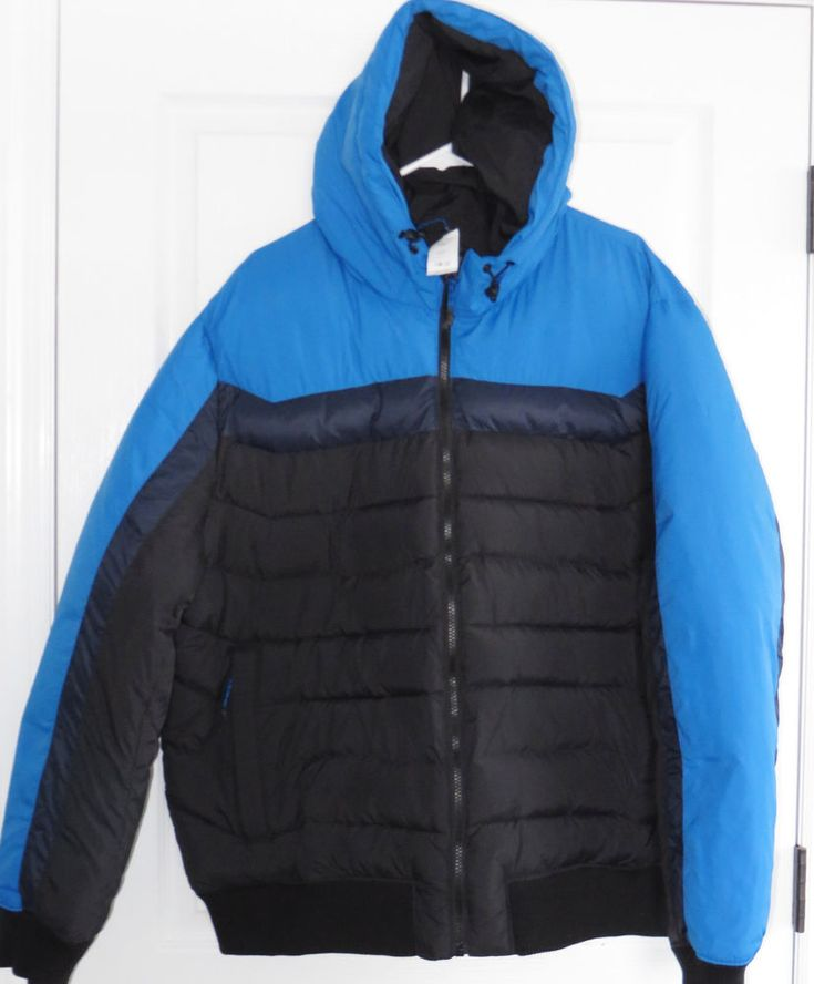 Gap Mens Puffer Coat XXXL 3XL Primaloft Cold Control Color Block Hooded New $138