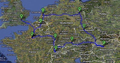 itenerary planning advice for a backpacking trip in europe on a budget