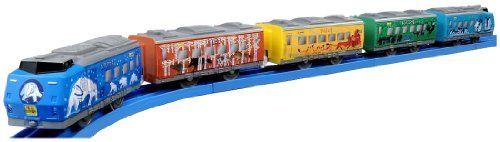 Plarail  Fun Train Series Asahiyama DoubutsuenGo Asahiyama Zoo Train 5Car Set Model Train -- Click image for more details.