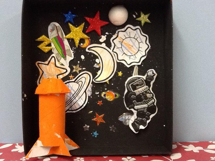 Preschool outer space diorama. PreSchool R U Crafty