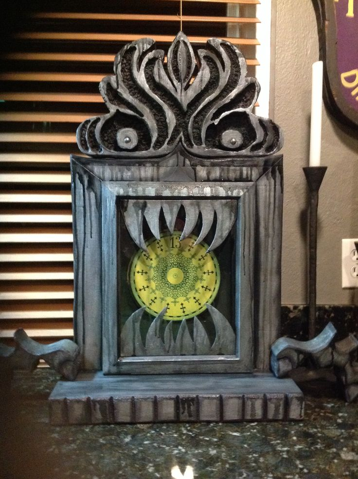 haunted mansion inspired clock not quite finished needs finger clock hands - Restoration Hardware Halloween